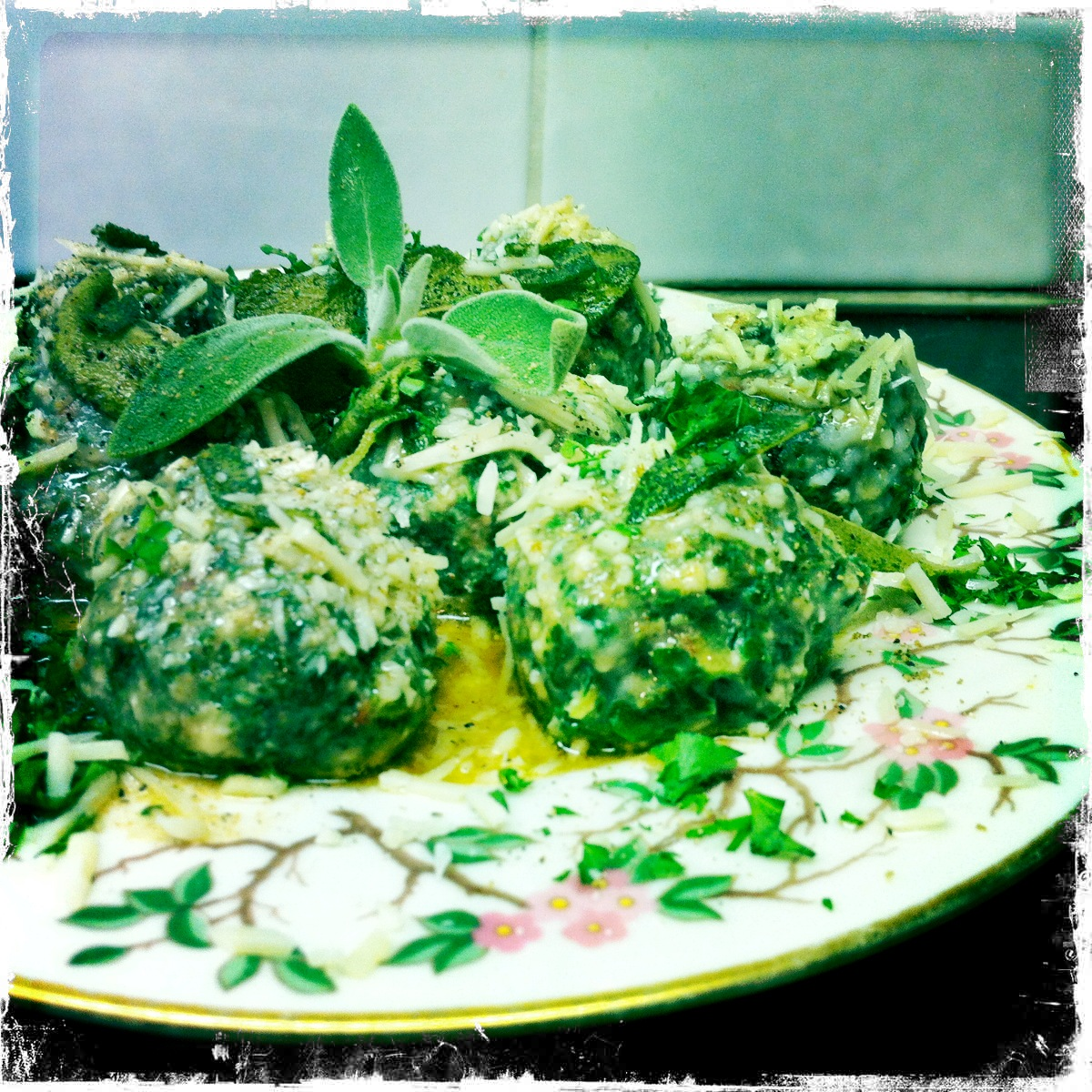 Swiss Chard Malfatti With Sage Brown Butter Recipe — Dishmaps