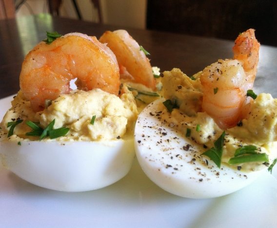 Traditional Deviled Eggs or with Shrimp or Truffle Oil or Pesto or ...
