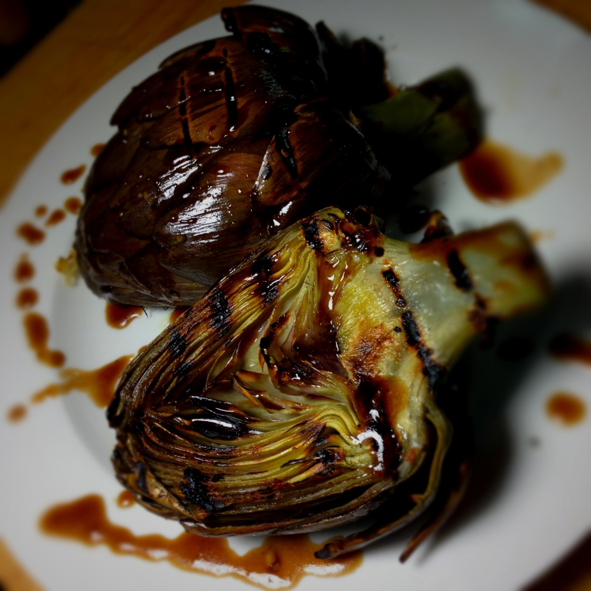 Grilled Sangria Artichoke with Balsamic Dressing | Delightful ...