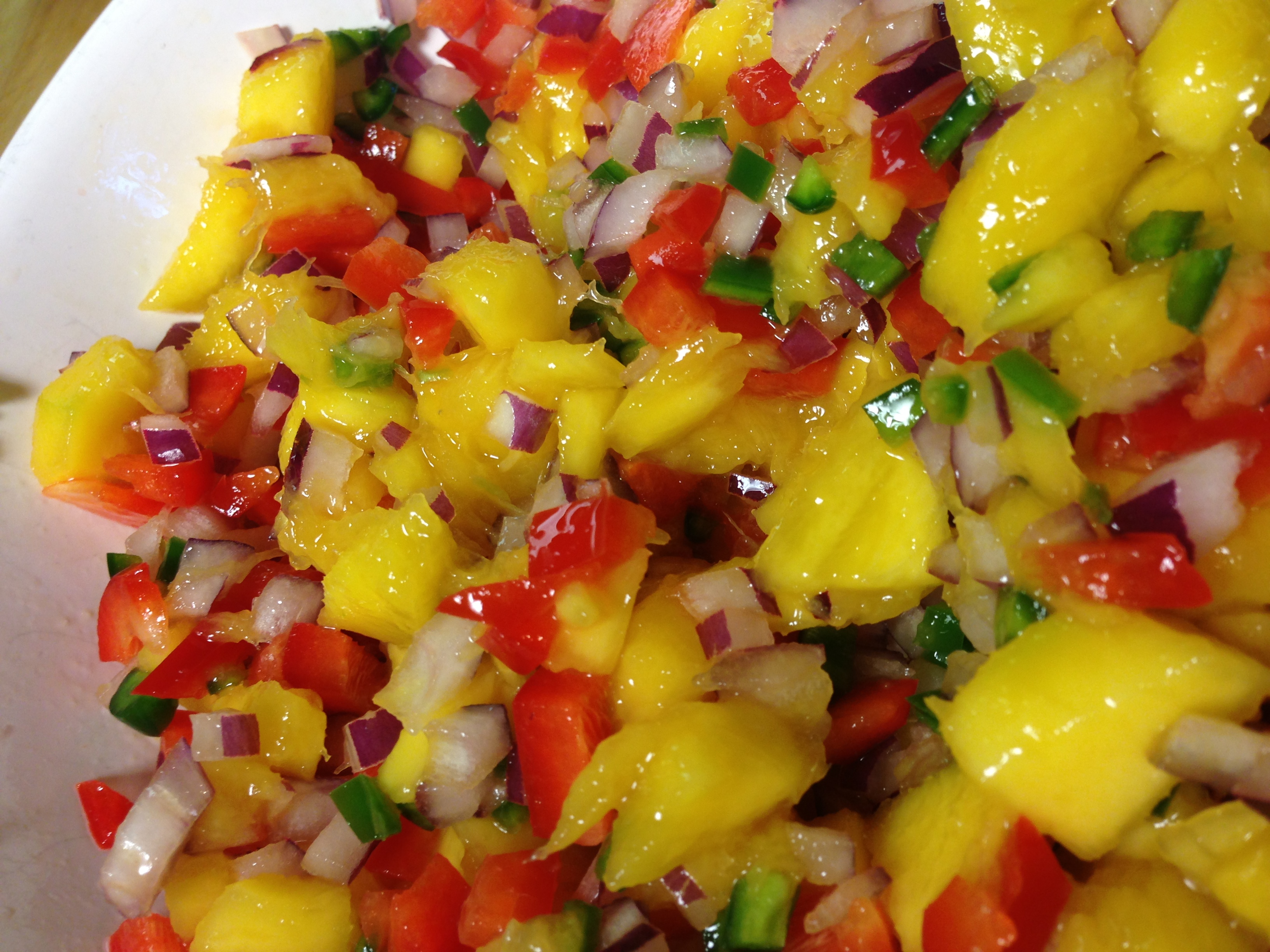 Hawaiian-Style Hot Dogs With Mango Salsa And Pineapple Mustard Recipe ...