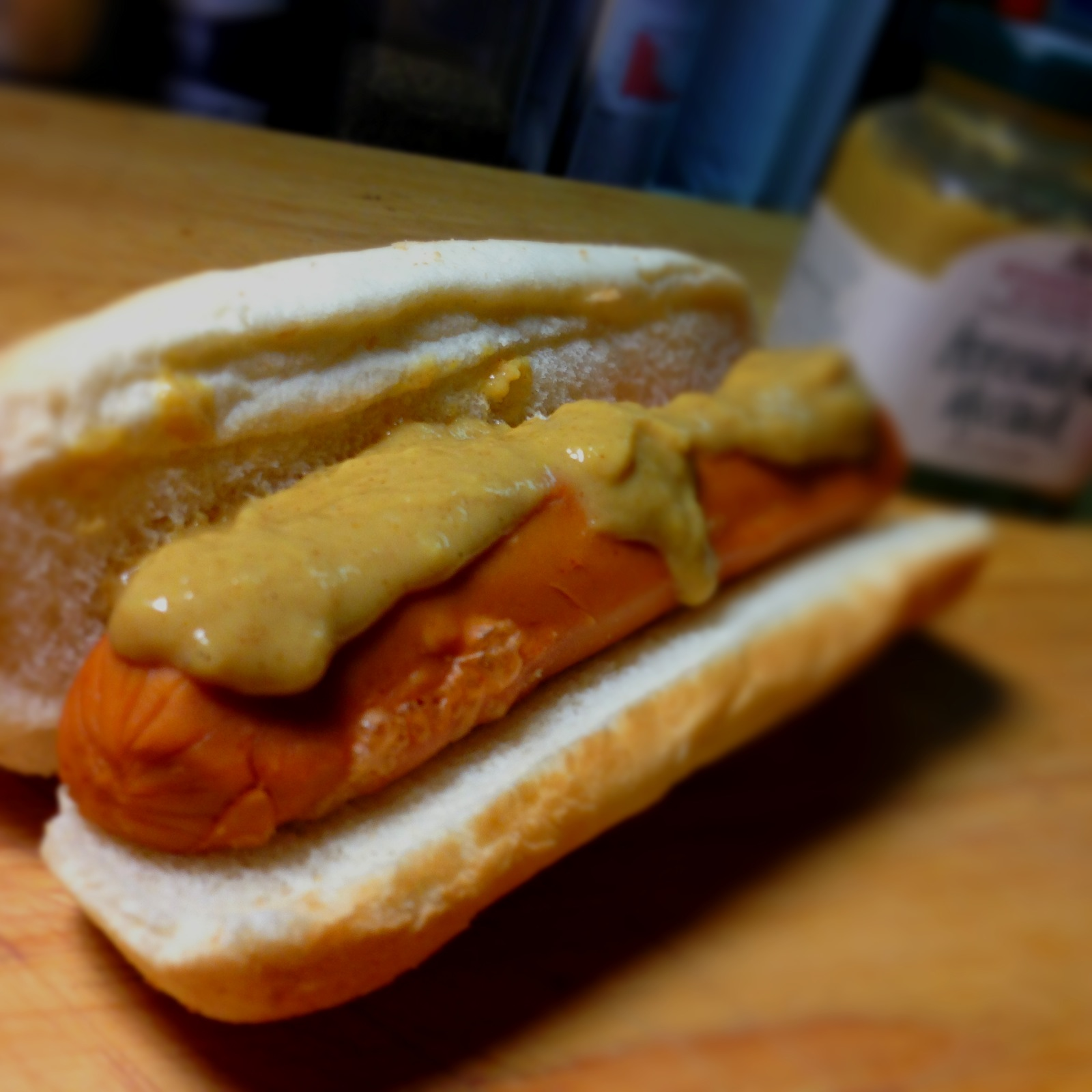 250 Calorie Fancified Hot Dog with Mango Salsa & Horseradish Mustard ...