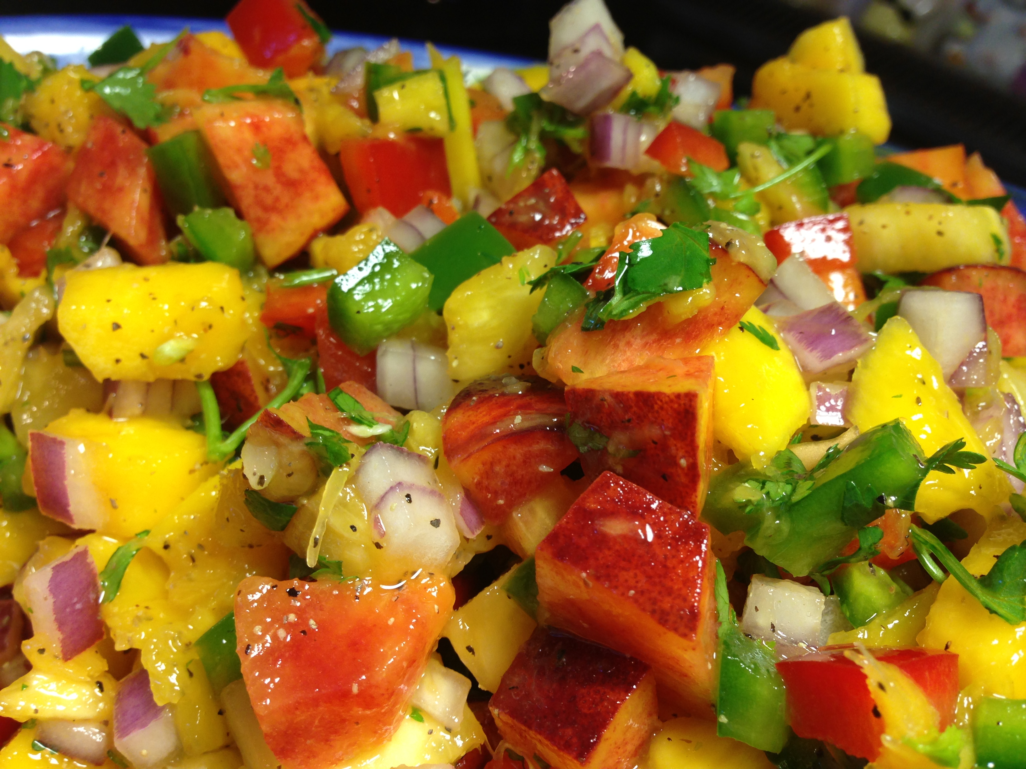 Spicy Peach, Pineapple & Mango Salsa with Jalapeno | Delightful ...