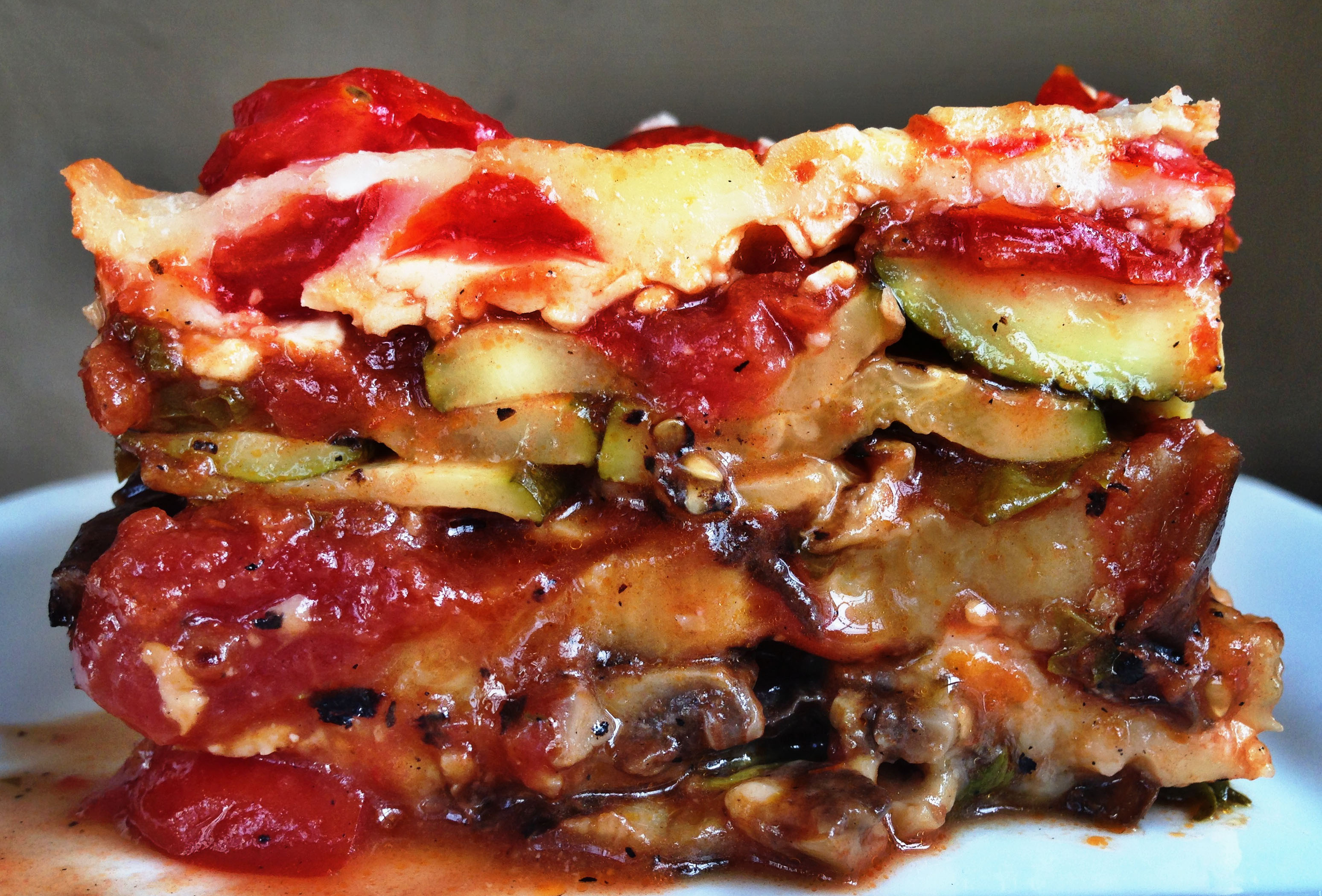 No-Bake Grilled Vegetable Lasagna Recipe — Dishmaps