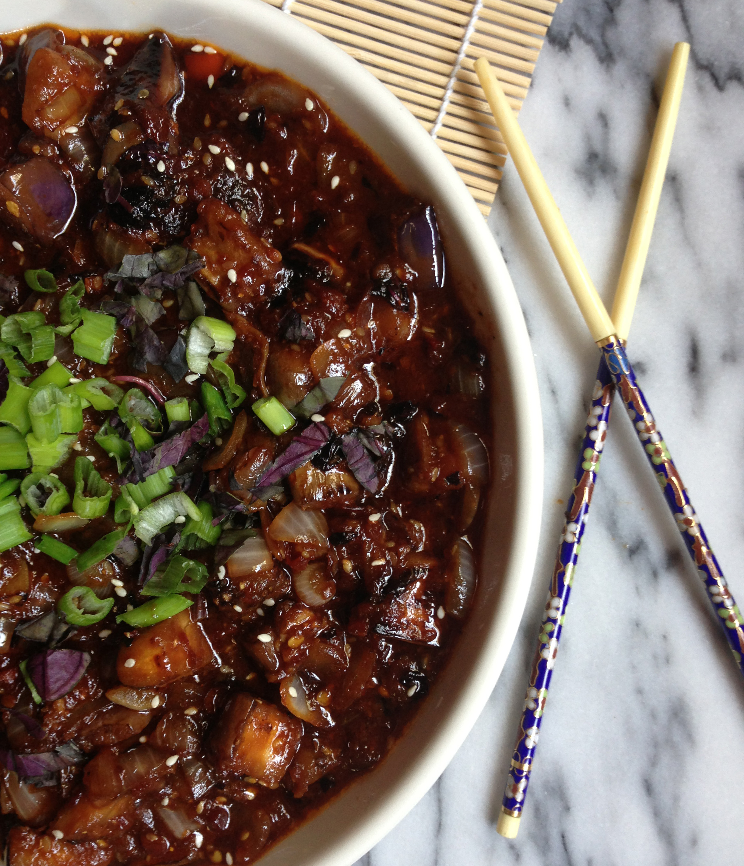 Spicy vegan chinese eggplant delightful delicious delovely image forumfinder Gallery