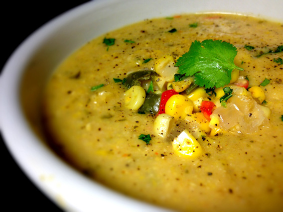 Spicy New England Clam & Corn Chowder (with Vegetarian & Vegan ...