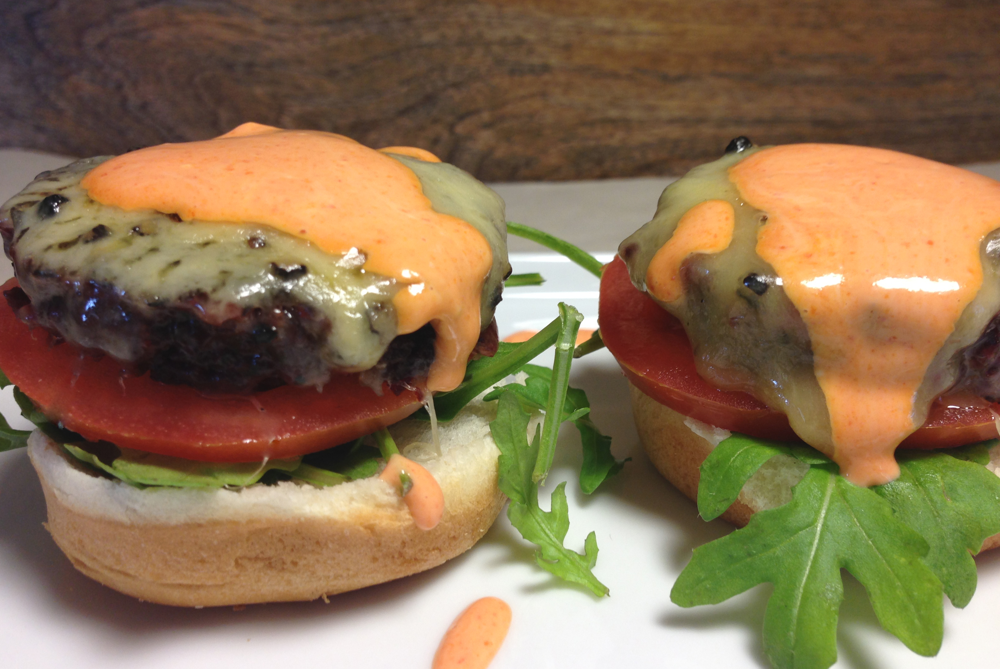 Vegan Beet, Lentil & Rice Burger Sliders with Arugula ...