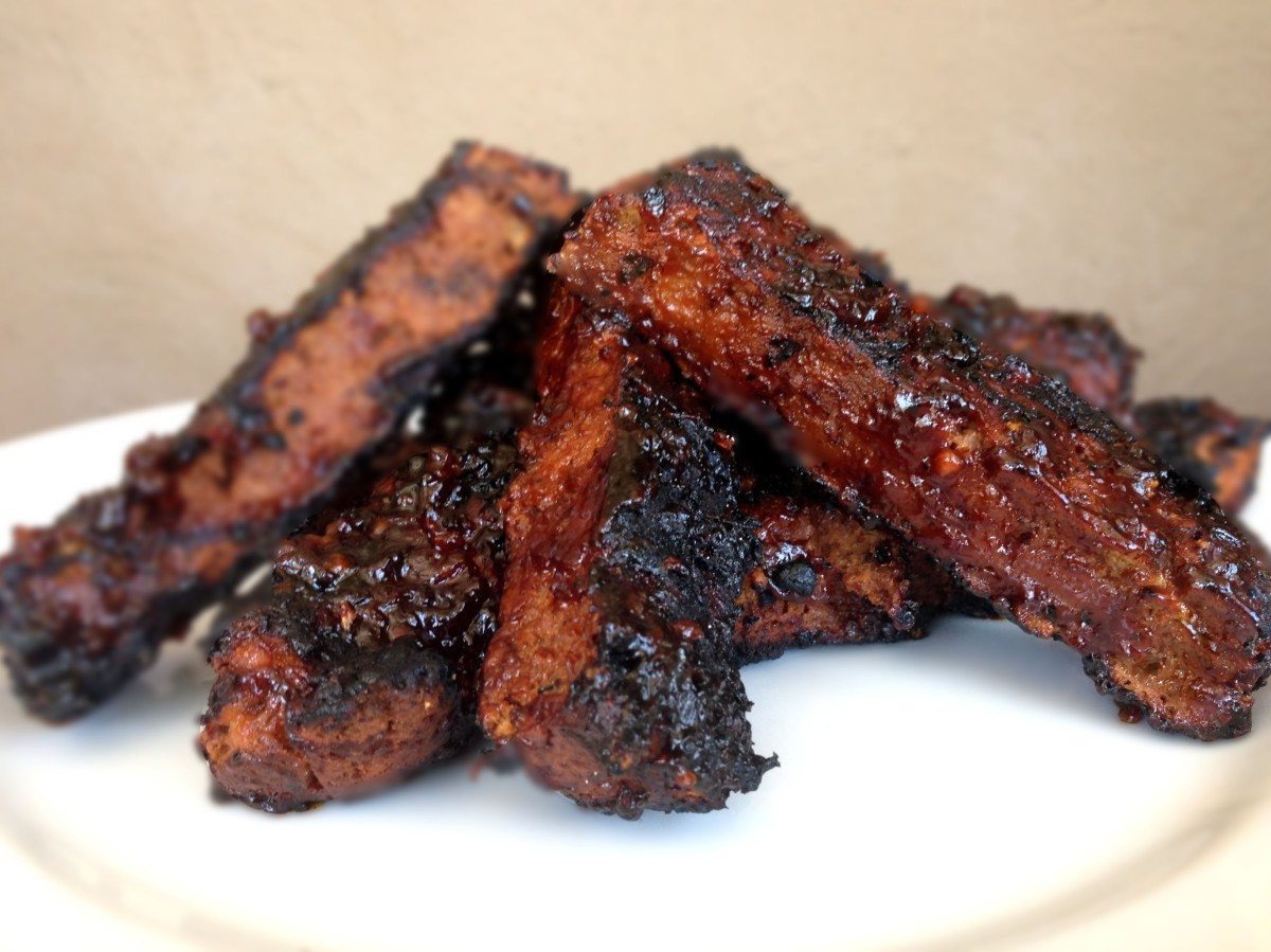 Baked Ribs With Spicy Blackberry Sauce Recipe — Dishmaps