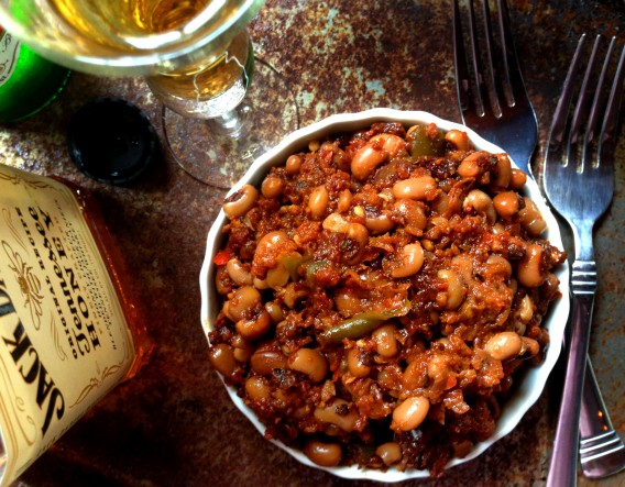 Boozy & Spicy BBQ Baked Black-Eyed Peas (Beans) – Vegan ...
