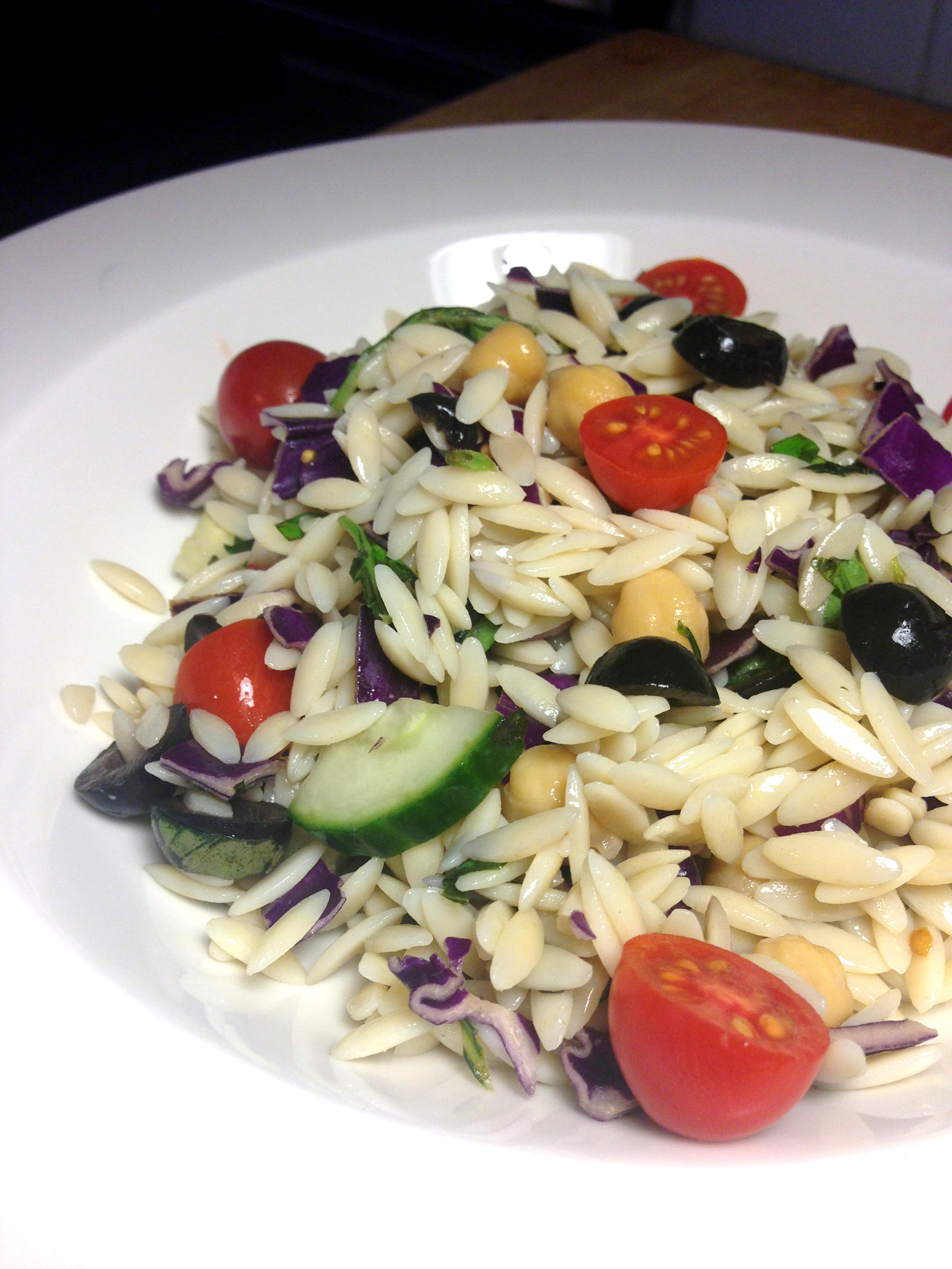 Easy Work Lunch Cold Orzo Pasta Salad Delightful Delicious Delovely