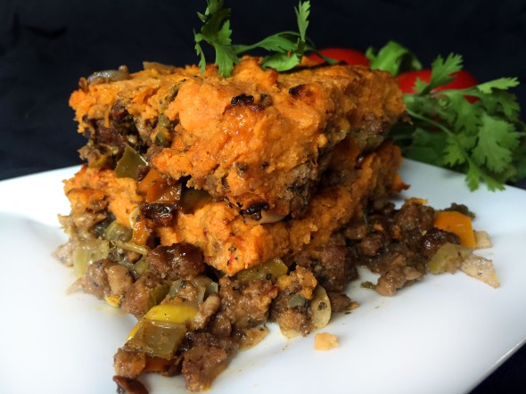 Vegan Beef & Vegetable Shepherd's Pie with Chipotle Sweet Potato ...